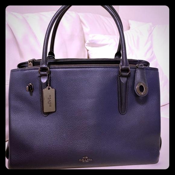 Coach Handbags - Navy Blue Coach Bag